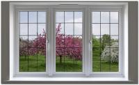 Пластиковое окно с декоративной решеткой