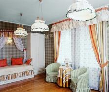 Кантри — красивые шторы в гостиную