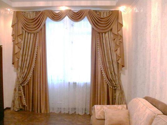 Класические шторы для гостиной