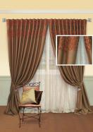 Красивые итальянские шторы для гостиной