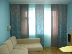 Красивые японские шторы для гостиной
