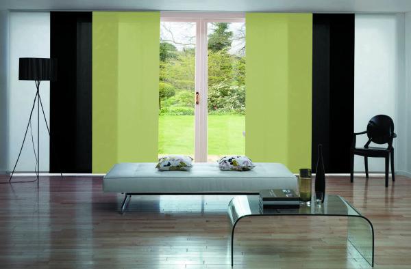 Легкие японские шторы для гостиной