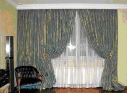 Оригинальные итальянские шторы для гостиной