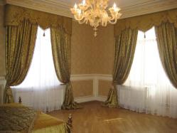 Современные итальянские шторы для гостиной