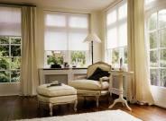 Современные шторы плиссе и жалюзи для гостиной