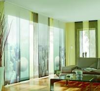 Современные японские шторы для гостиной