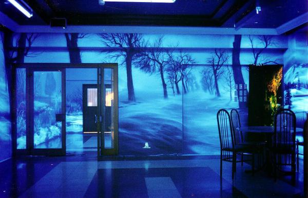 Флуоресцентные 3д обои на стены