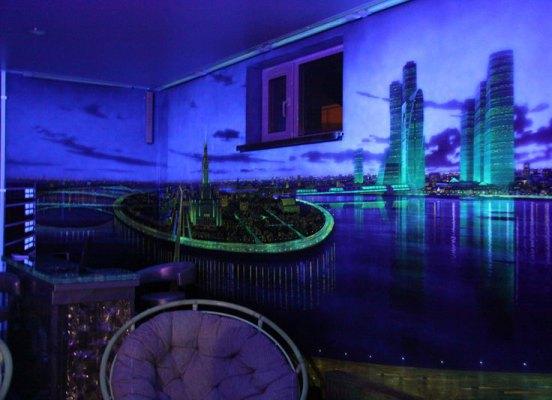 Флуоресцентные 3d обои на стены