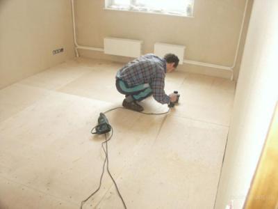 Монтаж ДСП на деревянный пол