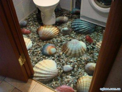Наливные полы 3d в туалете