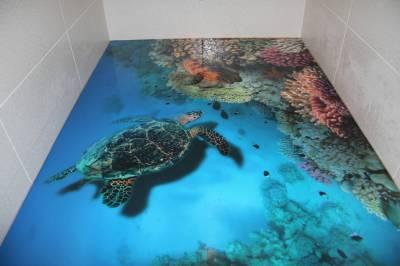 Наливные полы 3д в туалете