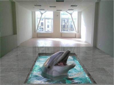 Наливные полы 3d в зале