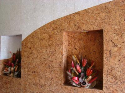 Пробковые панели дл стен в зале