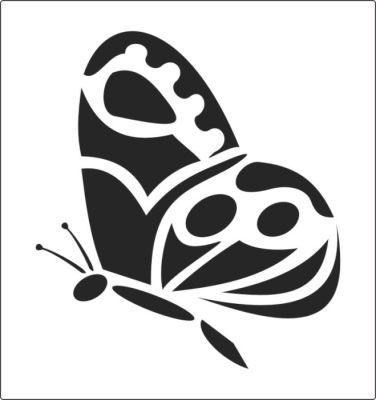 Трафарет бабочки для декора