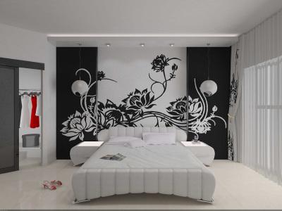 Трафареты для стен в спальни своими руками