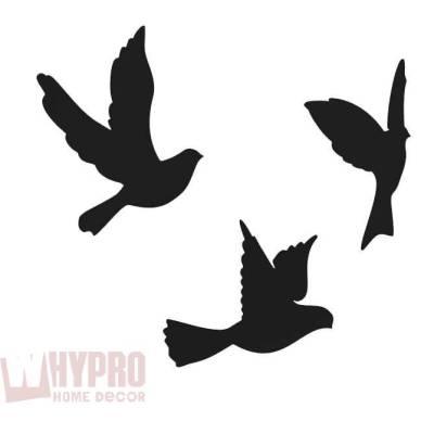 Трафареты птиц для стены