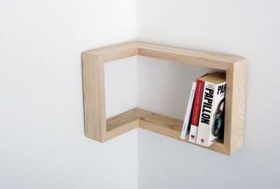 Угловые полки на стену для книг