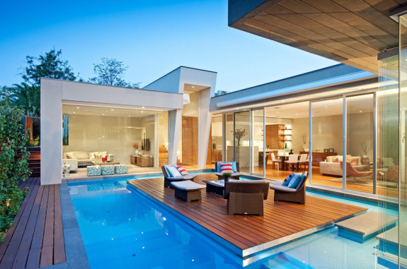 Проекты домов и коттеджей в стиле патио