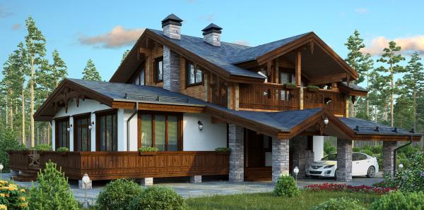Проекты домов и коттеджей в стиле шале