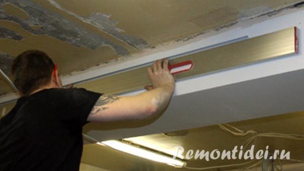Расчет реечного потолка
