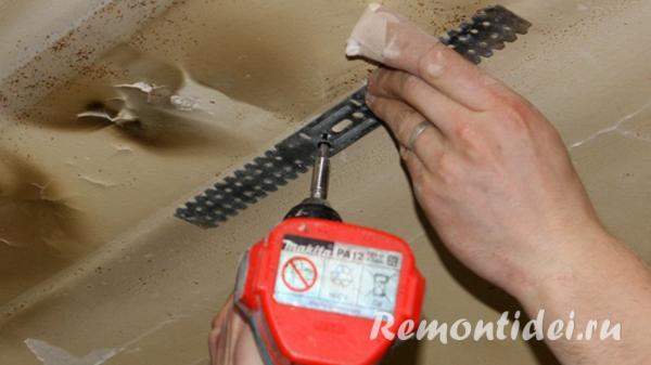Монтаж алюминиевого реечного потолка видео
