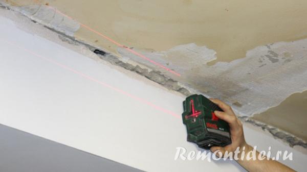 Устройство потолков реечных алюминиевых