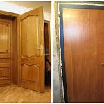 входная дверь в квартиру из дерева