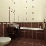 плитка коричневого цвета для маленькой ванной комнаты дизайн фото