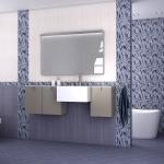 плитка мозаика серо-сереневого цвета для ванной комнаты фото