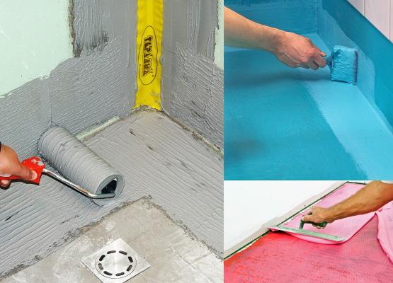 гидроизоляция ванной комнаты под плитку что лучше