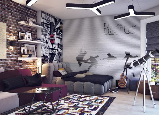детская комната для мальчика в стиле минимализм