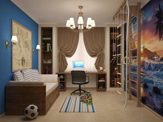 дизайн детской комнаты для двух мальчиков