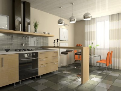 дизайн квартир пол из керамогранита