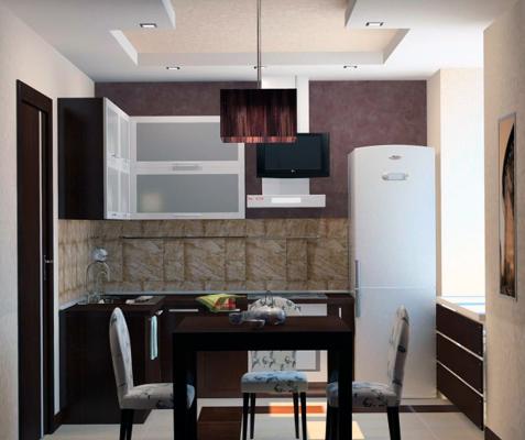 дизайн кухни в хрущевке 6 кв м