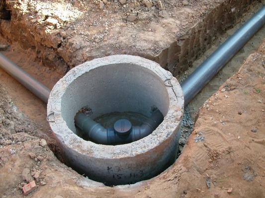 канализация на даче трубы