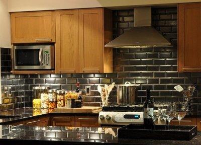 кирпичная кладка в дизайне кухни