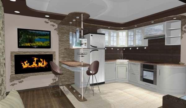 кухня гостиная 25 кв м дизайн фото
