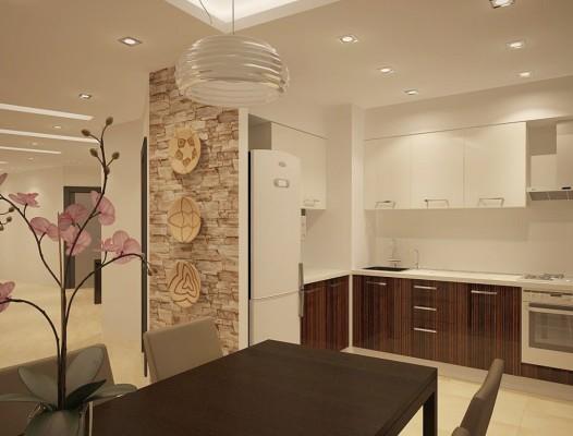 кухня студия на 12 кв метрах