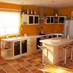 напольная плитка для кухни фото в интерьере