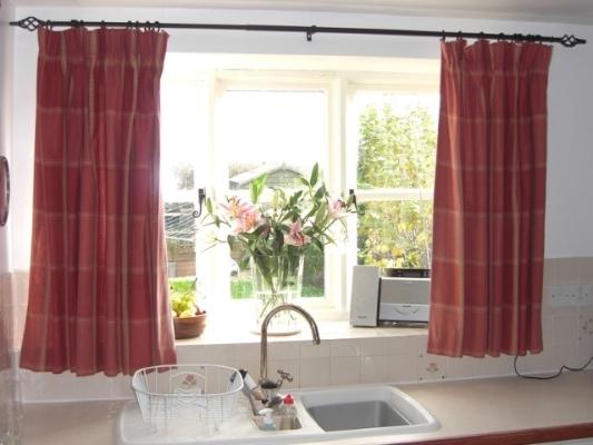 пошив штор своими руками в стиле хай-тек на кухню