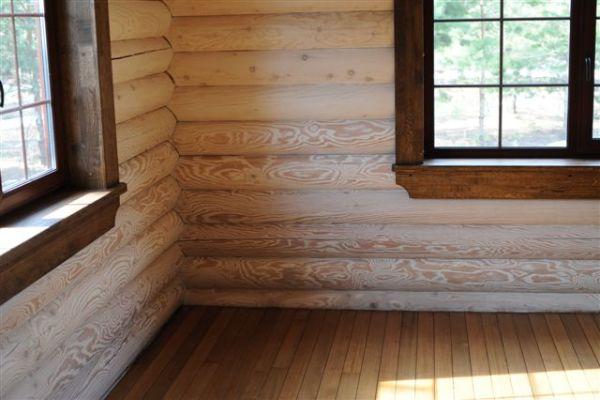 установка пластикового окна в деревянный дом