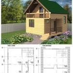 дачные дома проекты фото с чертежами