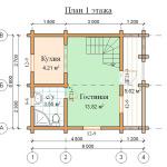 проекты дачных домов из бруса планировка