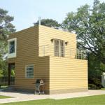 проект двух этажного дачного дома на столбчатом фундаменте