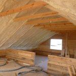 утепление двухскатной крыши