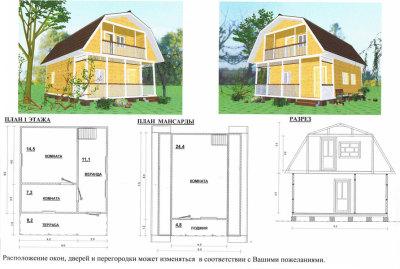 чертежи и фото дачного дома