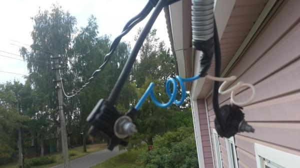 ввод электричества в дом