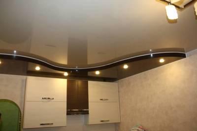многоуровневые натяжные потолк