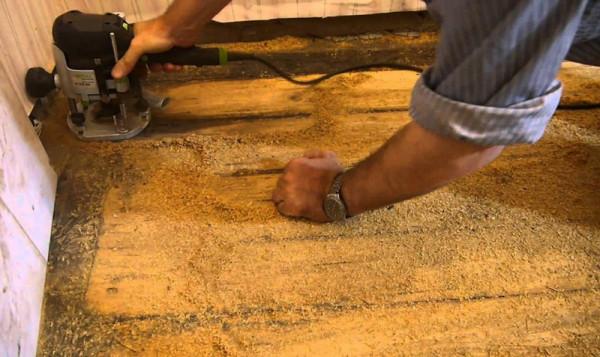 подготовка деревянного пола перед укладкой линолеума