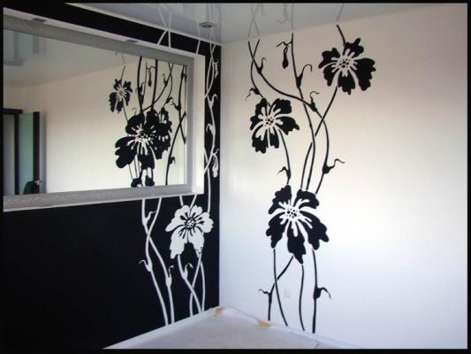 роспись стен трафаретами